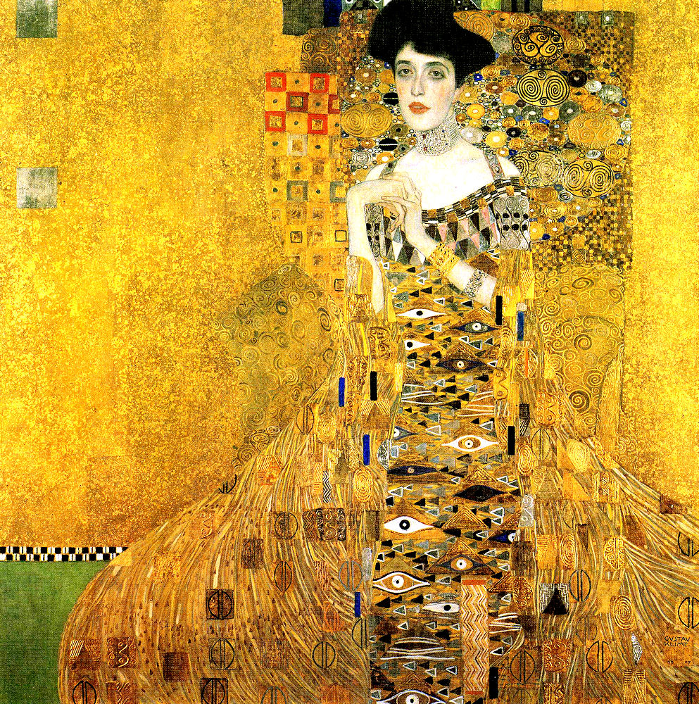 gustave klimt 1862 1917 portrait d adele bloch bauer 1912 l 39 rotisme en peinture. Black Bedroom Furniture Sets. Home Design Ideas